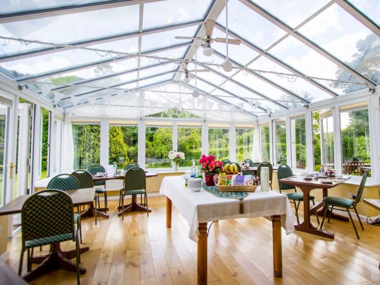 The conservatory at Polraen Country House