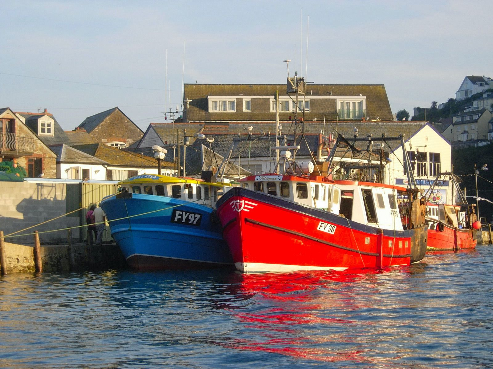 Fishing boats in Looe Harbour
