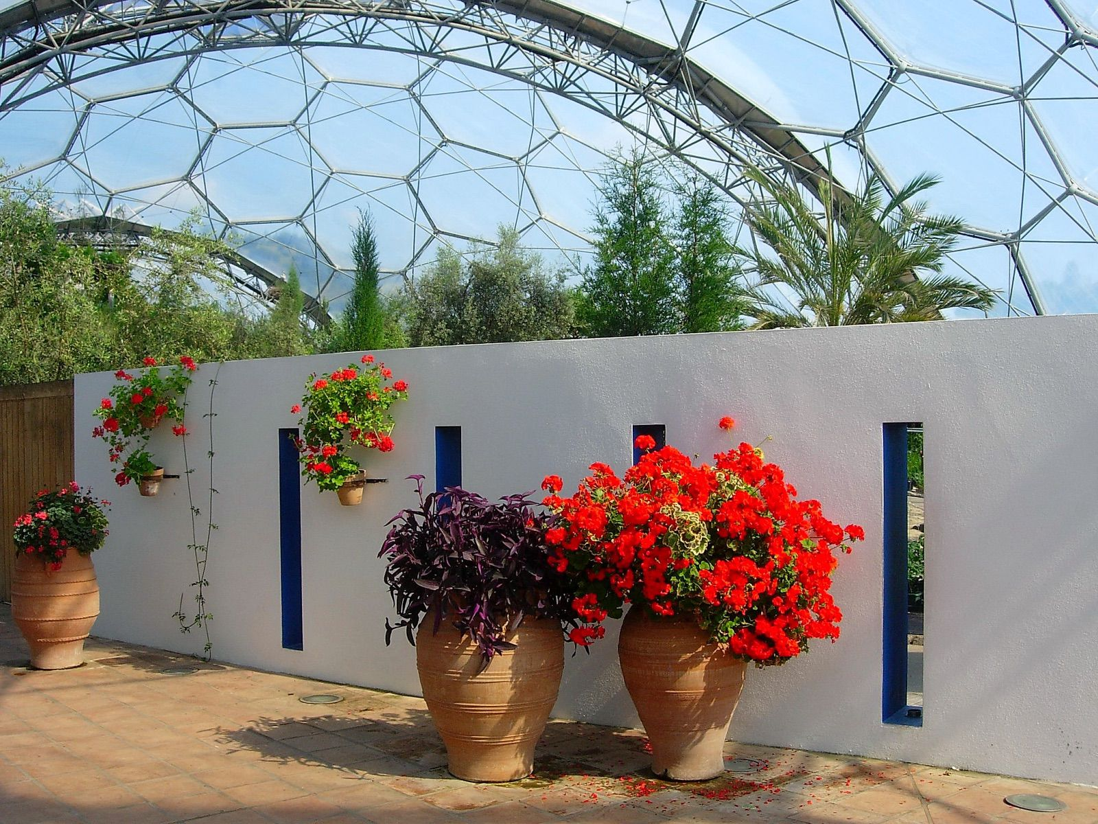 Mediterranean biome at the Eden Project on a day out from Looe