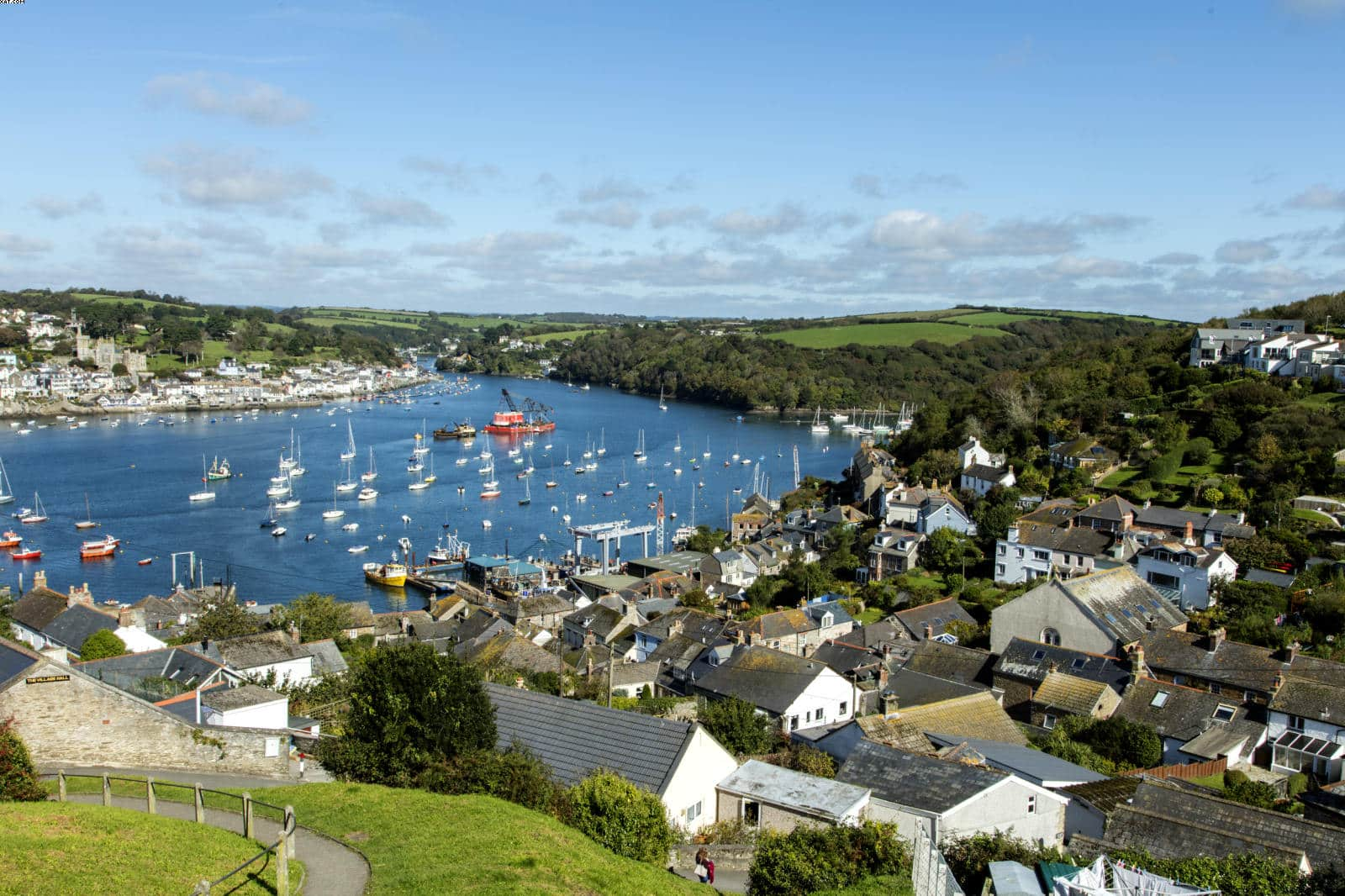 View of Fowey River from Polruan on a day trip from Looe