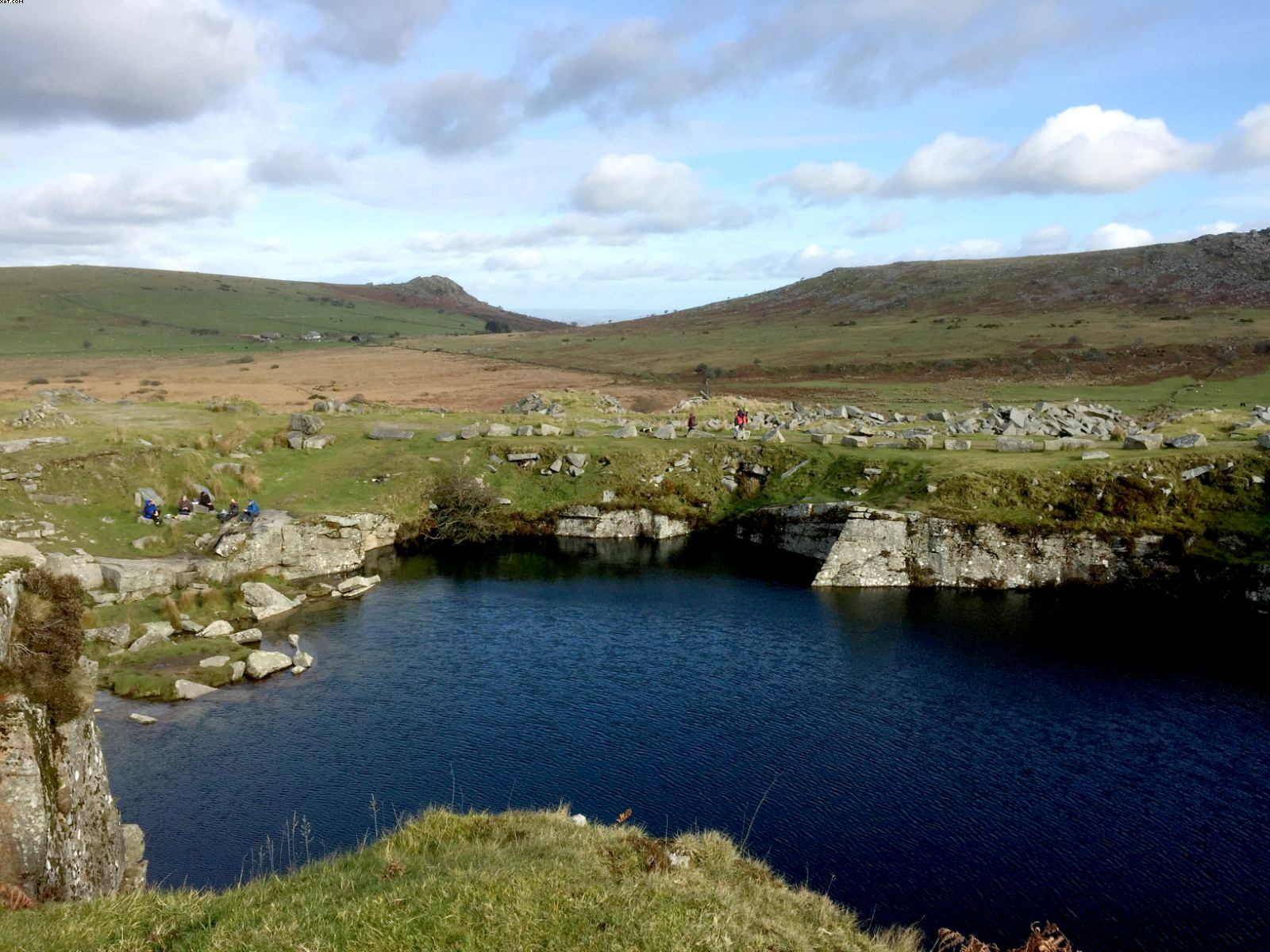 Gold Diggers Quarry and flooded pool on Bodmin Moor