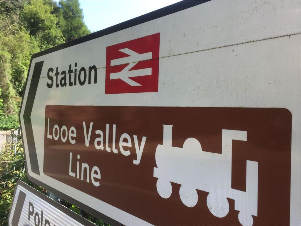 Looe Valley Line Sign Polraen Country House