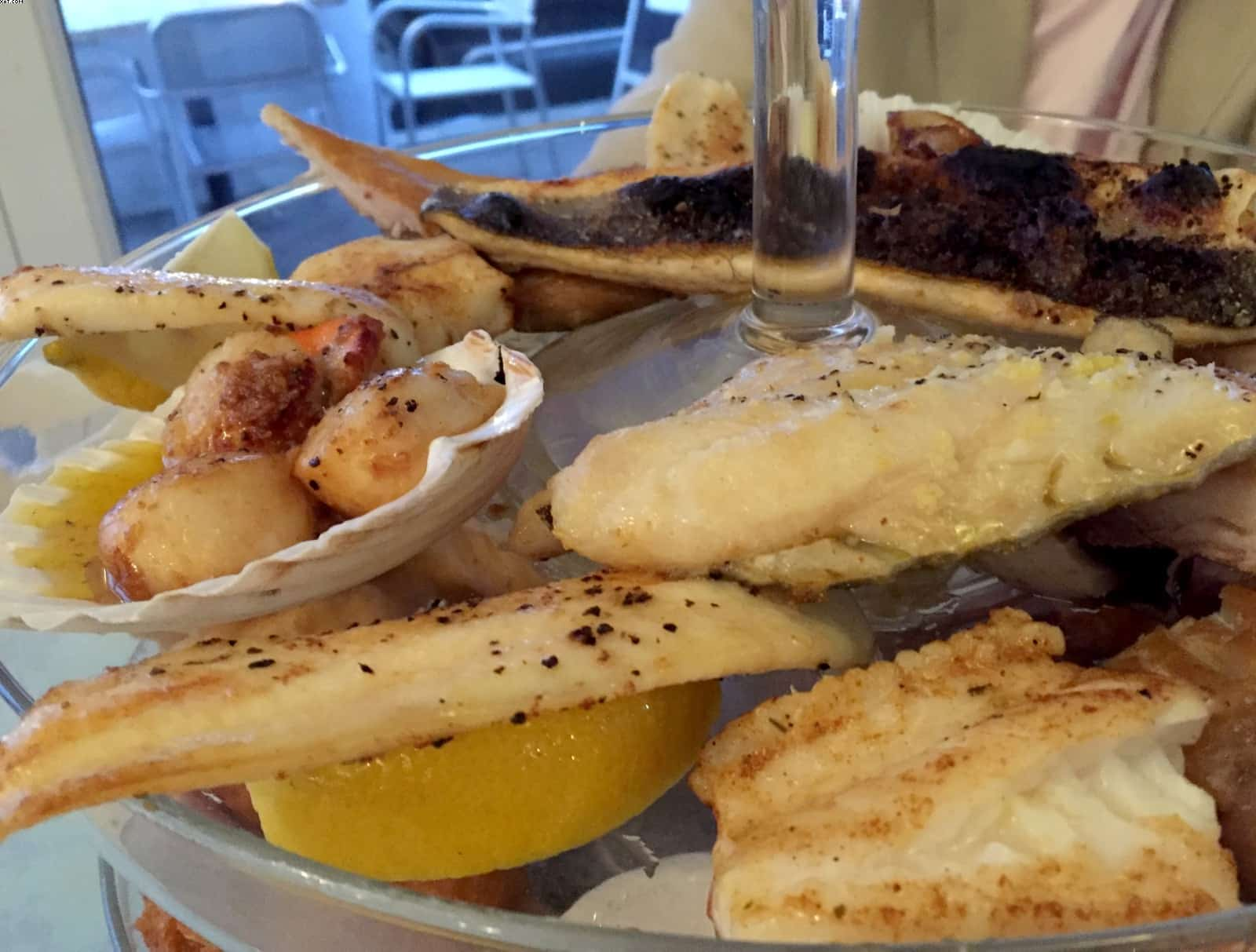 Scallops and local seafood at Looe Restaurant Cornwall